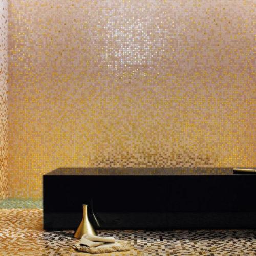 Фото Мозаика из венецианского стекла для ванной комнаты. Коллекция Sfumature, Италия