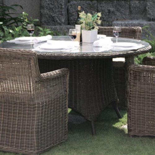 фотоКомплект меблів для саду. Стіл круглий і крісла. Штучний ротанг, скло. Колекція Riccone, Голландія
