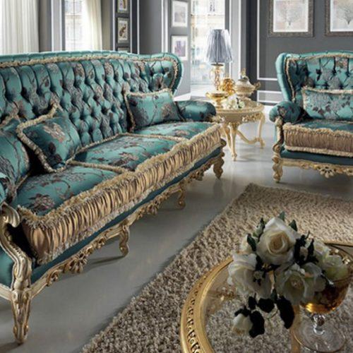 фото Диван и кресло в классическом стиле. Коллекция Art, Италия