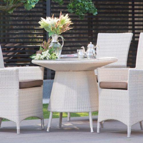 фото Комплект меблів для саду. Штучний ротанг. Стіл круглий і крісла. Колекція Summer, Італія