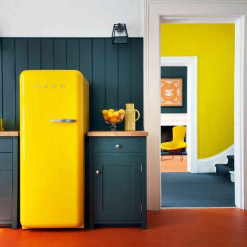 фото Холодильник в стиле ретро. Богатая палитра цветов. Smeg, Италия