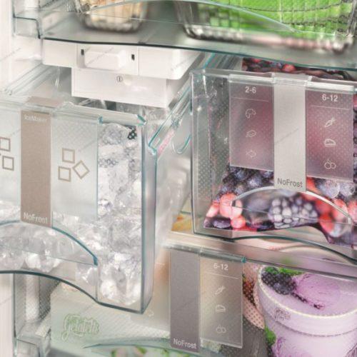 фото Морозильный шкаф с ящиками разного размера. Liebherr, Германия