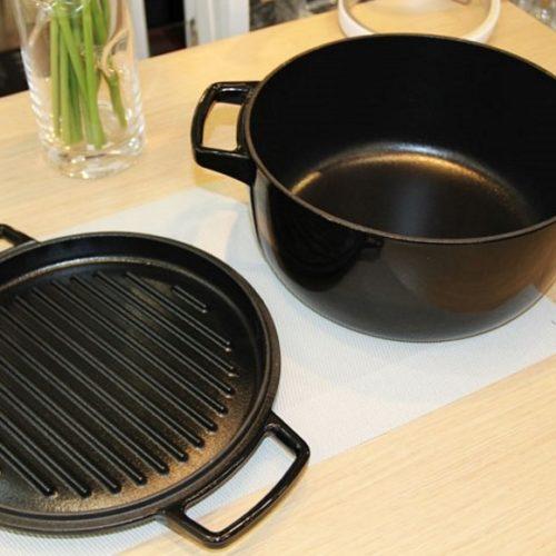 Каструля чавунна з кришкою, KitchenAid, США