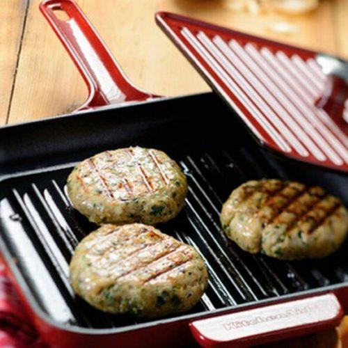 Сковорода чавунна з кришкою, KitchenAid, США