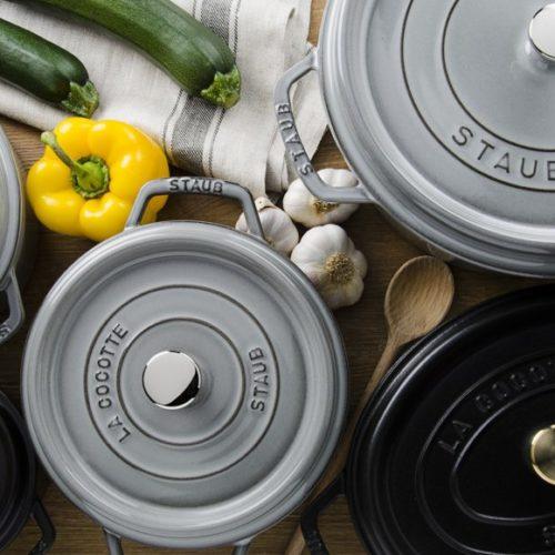 Чавунний посуд різних форм і кольорів Staub Grey La Cocotte, Франція