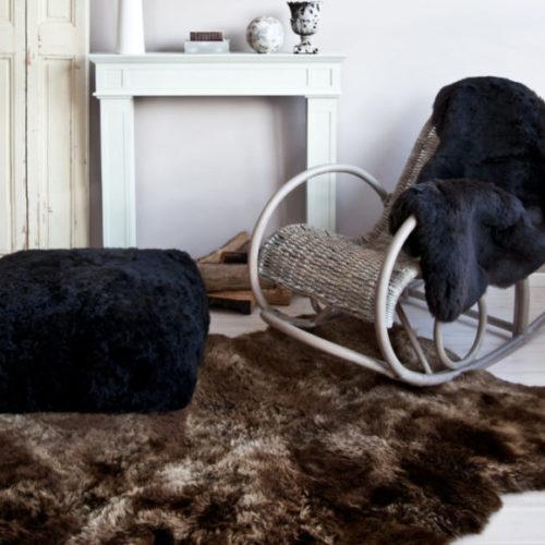 фото Шкура овечья шоколадного оттенка, Новая Зеландия