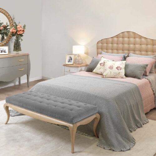 Спальня. Кровать, банкетка, трюмо, тумбы прикроватные. Коллекция Juliette, Португалия