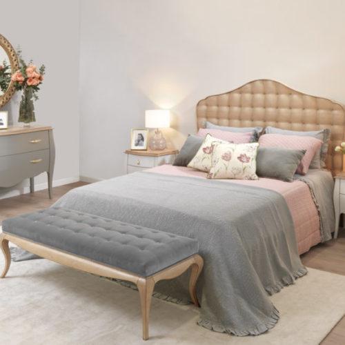фото Спальня. Кровать, банкетка, трюмо, тумбы прикроватные. Коллекция Juliette, Португалия