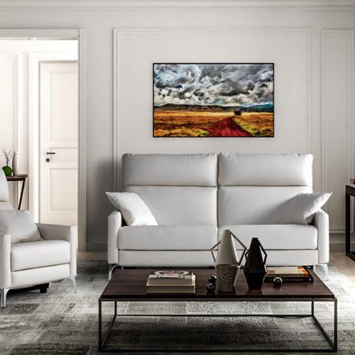 фото Диван и кресло. Белая кожа. Коллекция Saint Honore Relax, Италия