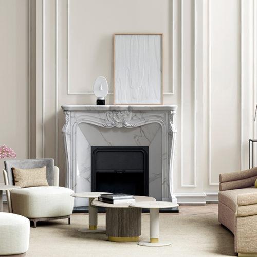 фото Мебель для гостиной. Кресло и журнальный столик. Натуральное дерево, эксклюзивный текстиль. Коллекция Аim, Португалия