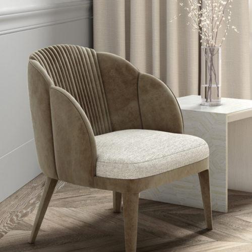 фото Меблі для зони відпочинку. Столик і крісло. Натуральне дерево. Колекція Avalon, Португалія