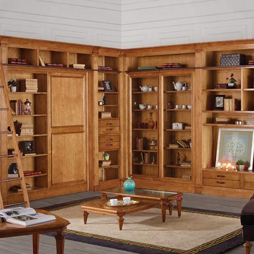 фото Модульная система для кабинета или гостиной из коллекции Boheme. Натуральное дерево. Ручная работа, Португалия