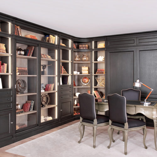 фото Система модульная для кабинета или столовой. Массив, ручная работа. Коллекция Directoire, Португалия