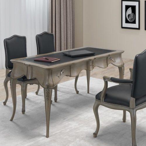фото Меблі для кабінету. Письмовий стіл і стільці з колекції Francis. Ручна робота. Португалія