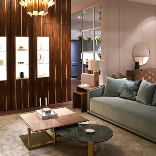 фото Мебель для гостиной. Диван Inspire, кофейные столики Сhange, Португалия