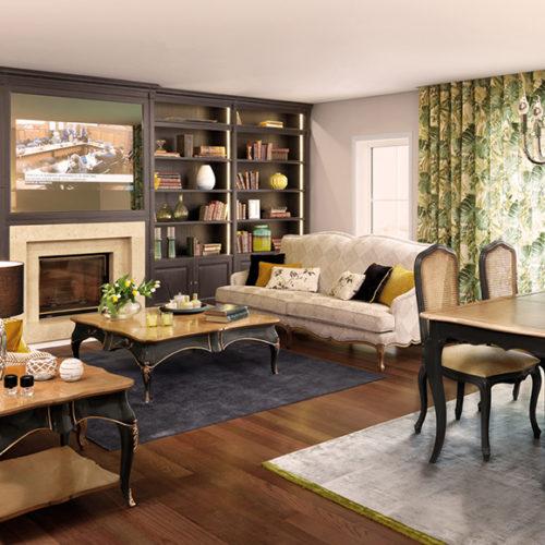 фото Комплект мебели для гостиной комнаты. Ручная резьба по дереву. Коллекция Memory, Португалия