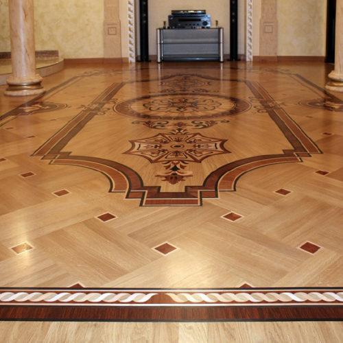 Фото Эксклюзивный дворцовый паркет из разных пород древесины, Украина