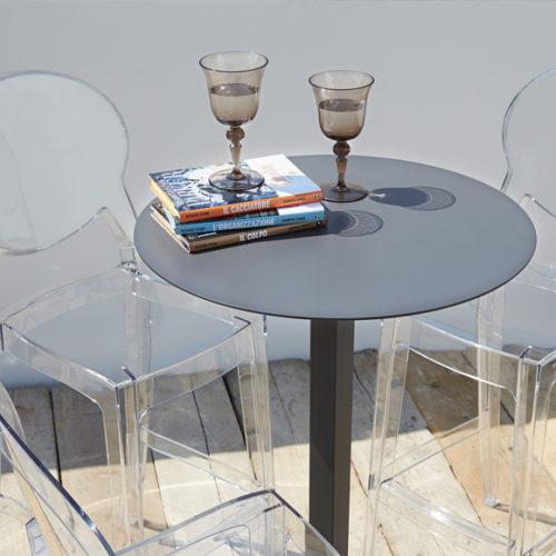 фотоКомплект меблів для балкона, саду, тераси. Прозорий високоміцний пластик голладського виробництва. Колекція Igloo, Італія