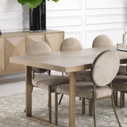 фото Комплект меблів для їдальні. Стіл прямокутний, розкладний. Стільці. Натуральне дерево, ручна різьба, Голландія