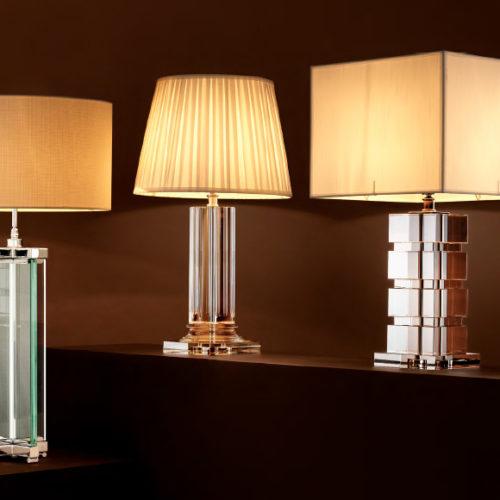 Лампы настольные из коллекции Atlantis и Guard.