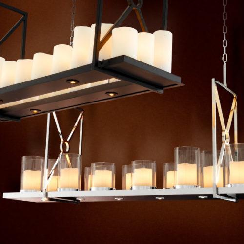 Люстра дизайнерская. Оснащена LED лампами, свечами и пультом дистанционного управления