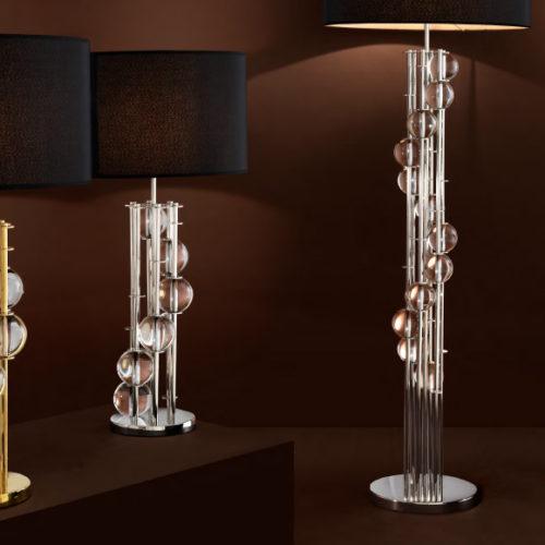 Лампы напольные и настольные. Хрустальное стекло