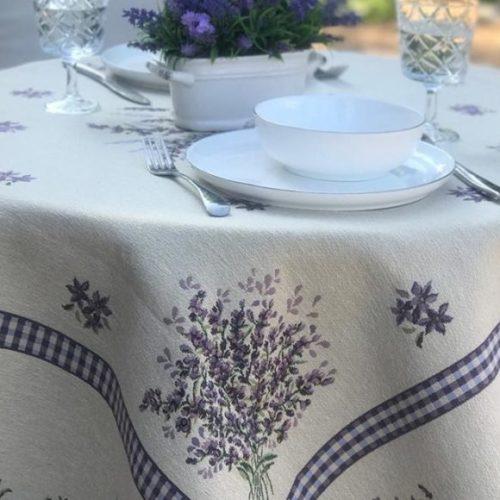 Скатертина на круглий стіл в стилі прованс з гобелену Home, Італія
