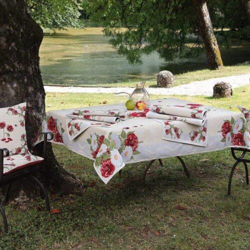 Комплект текстилю для будинку Home. Скатертина прямокутна, раннери, серветки. Італія
