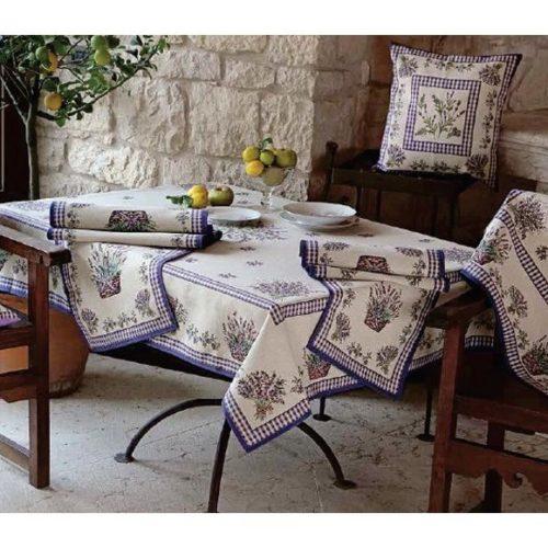 Комплект столового текстиля с лавандовым рисунком Home. Гобелен, Италия