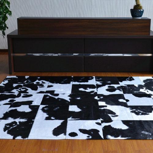 фотоКилим клаптевий з натуральної шкіри корови. Ручна робота. Колекція Sharlotte, Туреччина