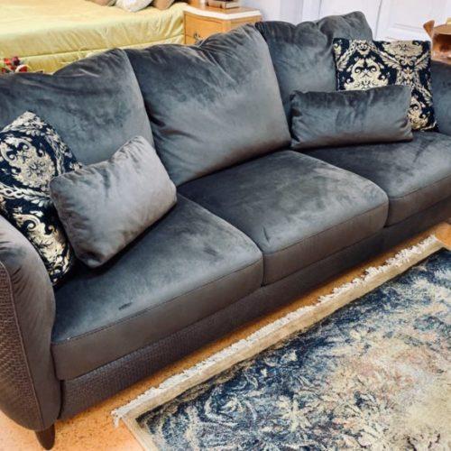 фото Диван с подушками — спинки съемные, натуральная кожа и ткань. Marylin, Италия