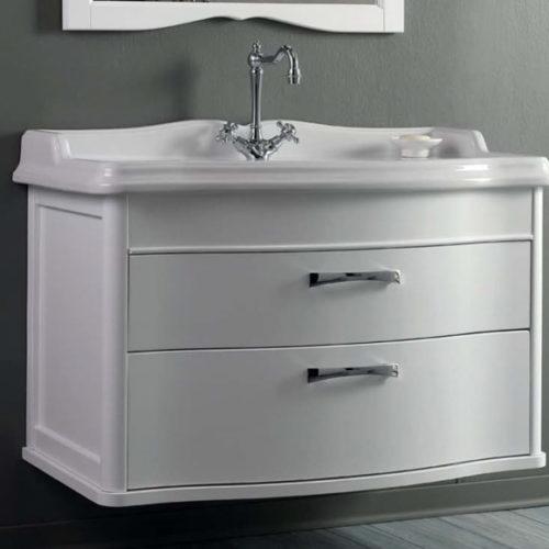 Фото Мебель для ванной комнаты. Тумба подвесная с накладным умывальником. Коллекция Arcade Lucido, Италия