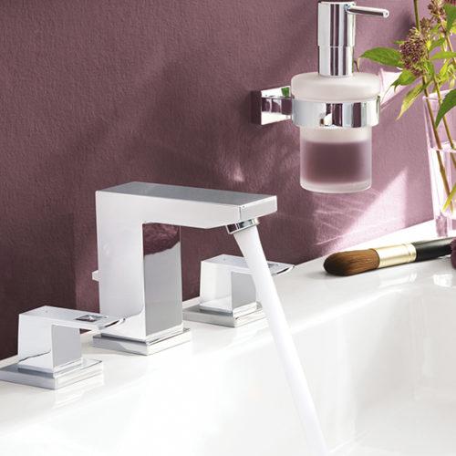 Фото Смесители для ванной, раковины, душа. Коллекция Eurocube, Германия