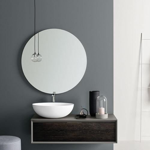 Фото Зеркало с LED подсветкой для ванной комнаты. Коллекция Matheria, Италия