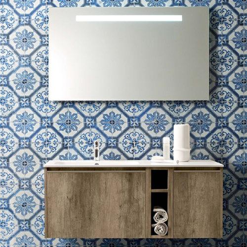 Фото Мебель для ванной комнаты, раковина, зеркало. Коллекция Movida, Италия