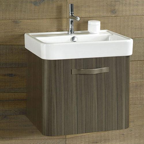 Мебель для ванной комнаты. Тумба с раковиной подвесная и зеркальный шкаф. Коллекция Replay, Франция
