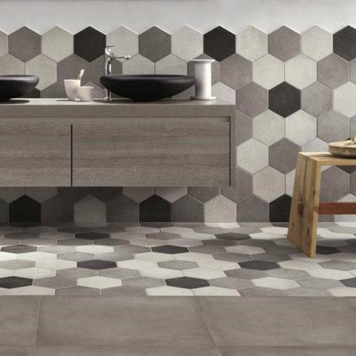 Плитка керамічна шестикутна. Колекція Rayno Rewinol, Італія