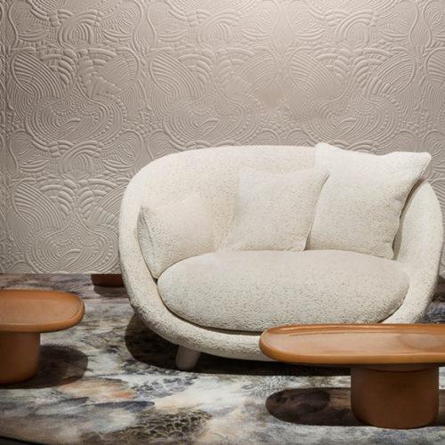 Обои 3D. Мягкий текстиль на флизелине. Коллекция Dodo Pavone, Бельгия