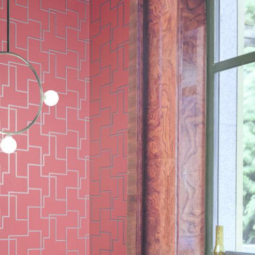 Обои флизелиновые с 3D эффектом. Рисунок геометрический. Коллекция Folies Lines, Бельгия