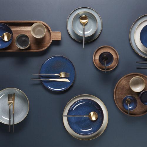Блюда, тарелки, пиалы, стаканы. Керамика, покрытая глазурью. Коллекция Asa Saisons, Германия. АКЦИЯ