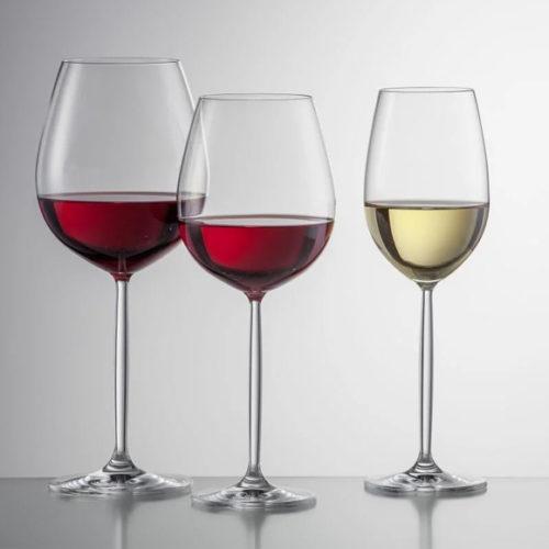Бокалы для красного и белого вина. Хрусталь Schott. Коллекция Diva, Германия