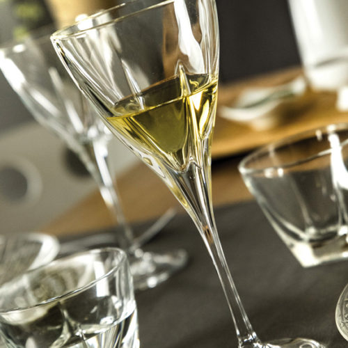 Бокалы, стаканы. Хрусталь RCR. Коллекция Fusion, Италия