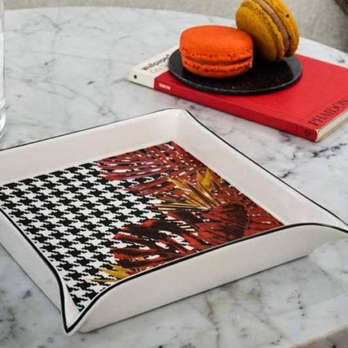 Блюдо для сервировки, квадратное. Фарфор. Коллекция Haute Couture Henriette, Италия