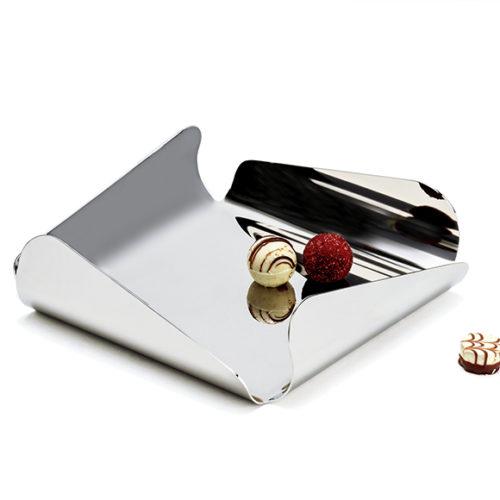 Конфетница. Полированная сталь. Elleffe Design . Коллекция Ypsilon, Италия