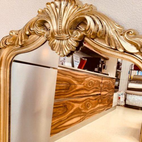 фото Люстерко. Дерев'яна рама, патинування золотом. Ручна робота. Колекція Ermitage, Німеччина
