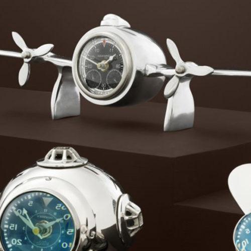 фото Декор настільний. Годинники в стилі авіатор. Нікель. Колекція Commander, Голландія