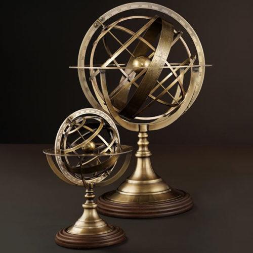 фото Декор настільний. Глобус. Метал, алюміній. Колекція Globe, Голландія