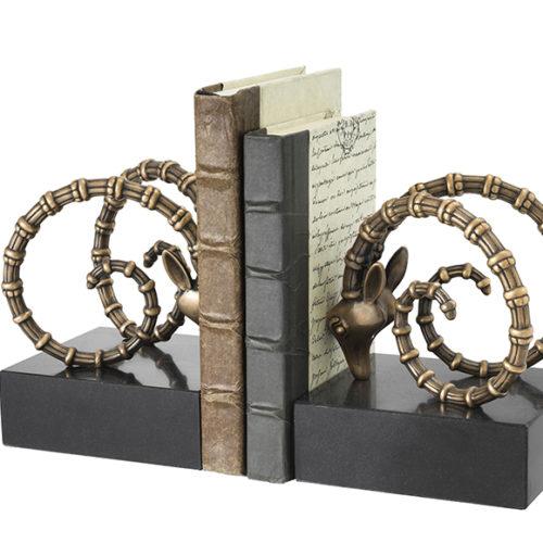фото Книгодержатель. Граніт, латунь з вінтажній обробкою. Колекція Ibex, Голландія