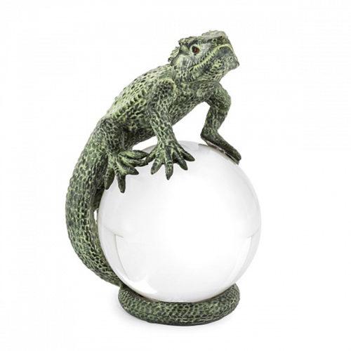 фото Прес-пап'є. Ящірка на кришталевій сфері. Колекція Lizard, Італія