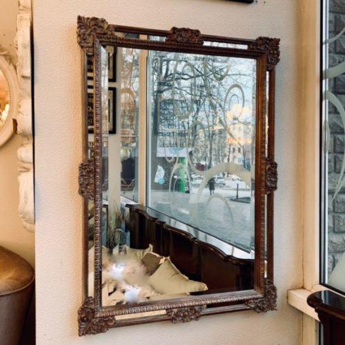 фото Люстерко. Дерев'яна подвійна рама, фецетіроване скло. Ручна робота. Колекція Versale, Італія